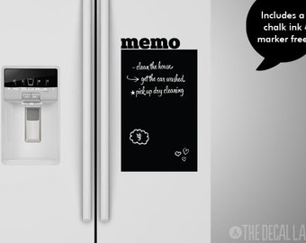 Memo Chalkboard Wall Decal - To Do List Wall Decal - Blackboard Decal - Free Chalk Ink Marker - CHK-MEMO1