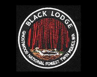 "Black Lodge - Ghostwood National Forest - Twin Peaks - 2.75"" Embroidered Patch"