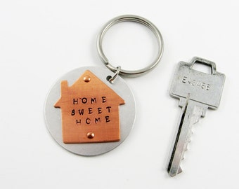 Home Sweet Home Keychain for New Home Owner, Realtor Gift, Housewarming Party