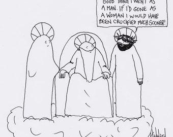 Jesus as a Woman CARTOON