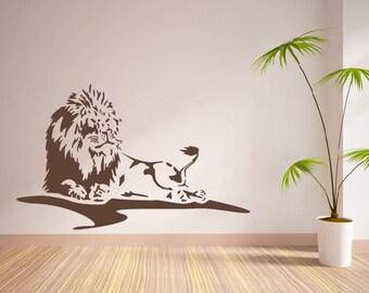 Loin King Of Jungle Zoo Animal Vinyl Wall Decal Sticker Decor Mural