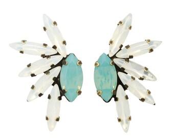 "Tova ""Kalin"" swarovski crystal mohalk earrings"