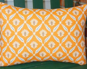 Orange Throw Pillow Lumbar Cover Orange Gray Tan Cushion Cover Lumbar Cushion Orange Taupe Couch Sofa Pillow Bed Decor Shams Nursery Pillow