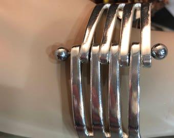 Silverware bracelet - adjustable -fork bracelet - silver plated bracelet - boho jewelry - fork art jewelry