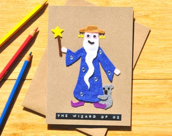 Wizard of Oz birthday card - Greeting card - Australian birthday card - Wizard - Cute koala - Funny pun for our friends down under