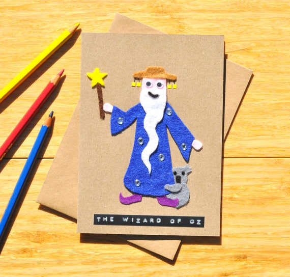 Wizard of oz birthday card greeting card australian wizard of oz birthday card greeting card australian birthday card wizard cute koala funny pun for our friends down under bookmarktalkfo Image collections