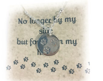 Pet Memorial Necklace Memorial Necklace Pet Memorial Jewelry Dog Memorial