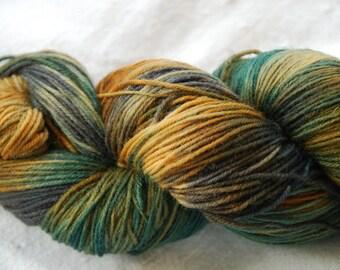 handdyed Yarn, 100g/ 3,5oz , colour Sydney clouds