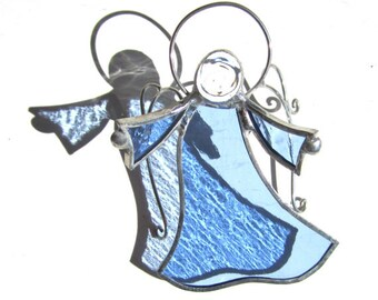 You Pick Any Color - Stained Glass Dancing Angel - Hanging Suncatcher Religious Christmas Ornament Home and Garden Decor (MADE TO ORDER)