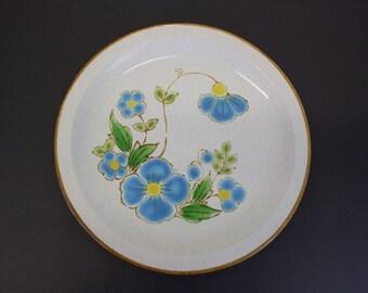Vintage Stoneybrook 'Blue Dawn' Mod Floral Serving Platter (E7858)