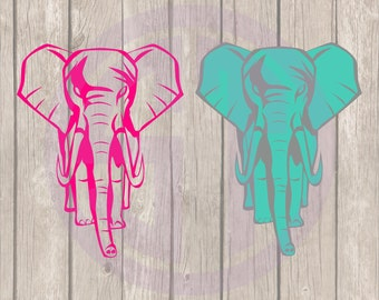 Elephant Editable vector Cut File .svg  .eps .ai .dxf and .pdf formats included INSTANT download