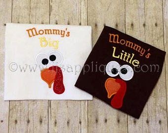 Instant Download - Thanksgiving Embroidery Applique Design - Mommy's Turkey Set 4x4, 5x7, 6x10 hoop sizes