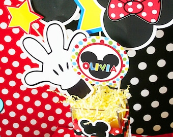 Mickey Mouse Birthday Centerpiece | Mickey Mouse Party Decoration | Mickey Mouse Clubhouse Centerpiece | Minnie Mouse | Amanda's Parties