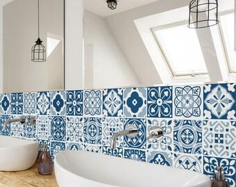 bleucoin no 21 mexican talavera tile wall stair floor vinyl. Black Bedroom Furniture Sets. Home Design Ideas
