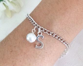 Initial Bracelet, Personalised Bracelet, Bridesmaid Gift, Letter Bracelet, Bridesmaid Bracelet, Bracelet, Charm Bracelet