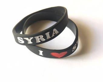 "Rubber ""I Love Syria"" WristBand/Bracelet"