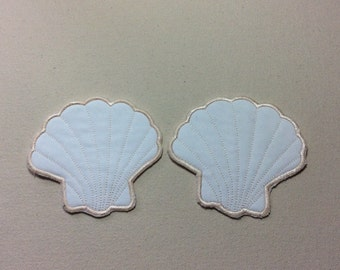 Sea Shell Embroidered Coasters Set of 2