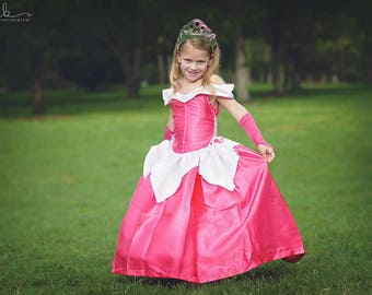 Sleeping Beauty Dress / Inspired Disney Princess Dress Aurora Costume / Ball gown style for toddler, child, girl, baby