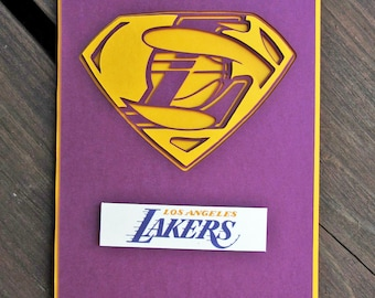 Los Angeles Lakers Card - Super Lakers Fan, Basketball Team Card