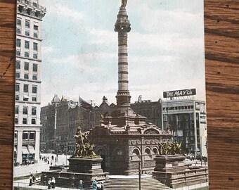 Vintage Cleveland  Soldiers Sailors Monument Post Card 1909 postmark