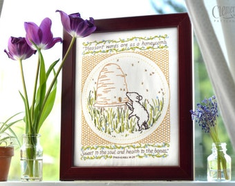 Pleasant Words - 100% Cotton Embroidery Pattern
