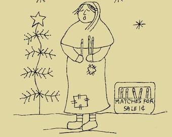Primitive Stitchery E-pattern Scatter Kindness! Candle Girl