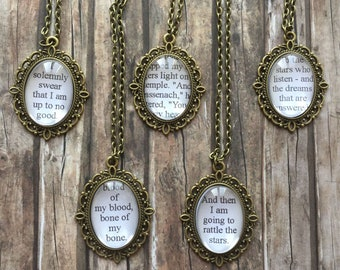 Book Quote Necklace