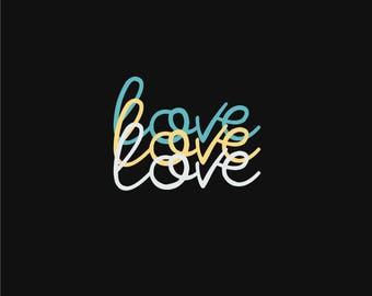 Love A4 wall print