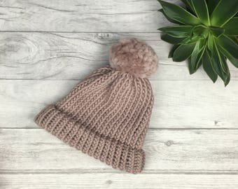 Chunky knit hat, knitted hat, winter beanie hat, womens knit hat, chemo hat, wool winter hat, chunky hat, ladies hat, knit accessories