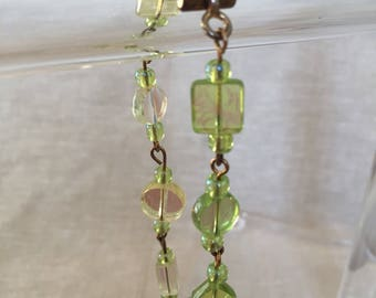 Green Glass Toggle Bracelet