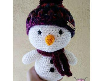 Lumi the snowman, crochet snowman, table top decor