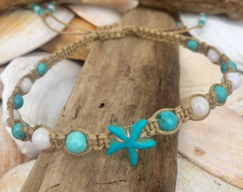 Beach Anklet-Starfish Anklet by That's How I Knot