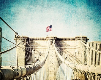 Brooklyn Bridge - 8x10 photograph - fine art print - vintage photography - New York Photography - vintage New York
