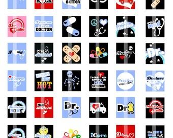 Medical Images - Scrabble Tile Size (.75x.83) Digital Images- DIGITAL Collage Sheet for Pendants, etc.
