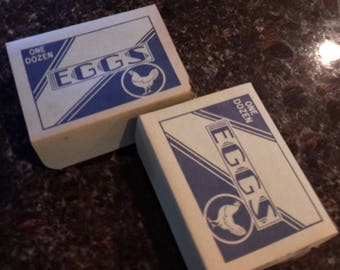 Set of Two Vintage Paper Egg Boxes