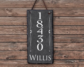 House Number Sign! Personalized House Number Plaque. Welcome To Our Home. Custom House Sign. Outdoor Sign. Wedding Gift. House Warming Gift.