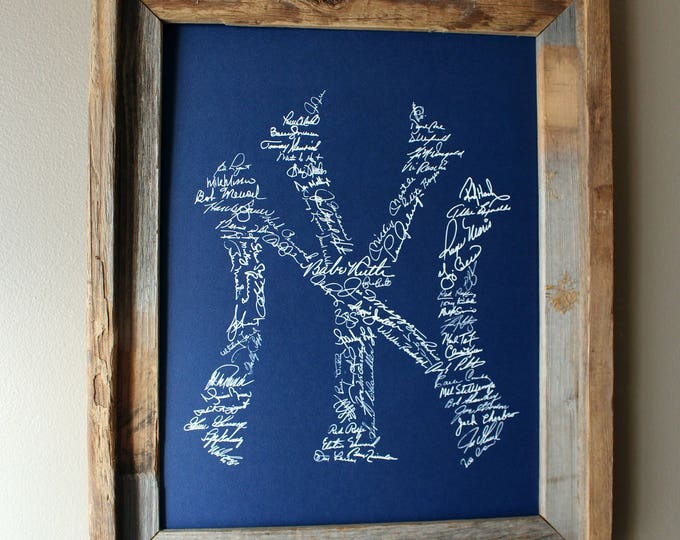 Signatures of Yankees History (Dark Blue) - Unframed