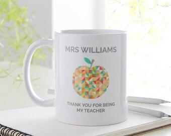Teacher Gift | Teacher Thank You Gift |  Personalised Teacher | Teacher Present | Thank You Gift for Teacher | Personalised Mug