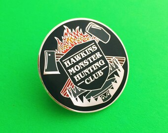 Hawkins Monster Hunting Club - Stranger Things Enamel Lapel Pin Badge
