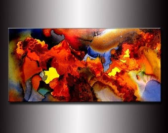 Abstract Painting, Original Modern Abstract Painting, Colorful Abstract Canvas art, Contemporary Fine Art on Canvas by Henry Parsinia