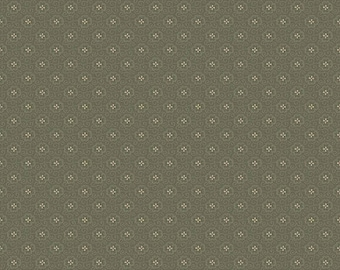 Calliington Floral Green 100% Cotton Fabric by Riley Blake in Yard 3/4 Half and 1/4  Quilting Sewing Civil War fabric Penny Rose design