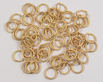8mm Matte Gold Jump Rings - Choose Your Quantity