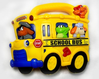 yellow school bus -school bus toy - musical school bus toy -  Music and Sound - toddler toy  - children's toy  - # 18