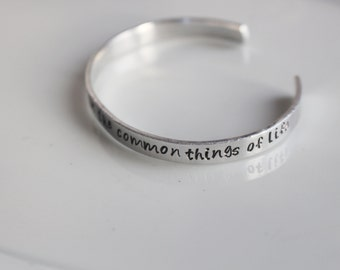 Alpha Chi Omega Symphony bracelet / Hand Stamped Aluminium or Brass Bracelet with AXO Symphony Lines / Sorority Bracelet Greek Licensed