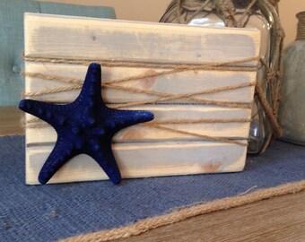 Blue starfish picture block