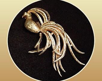 Bird of Paradise Vintage Avon Brooch Pin
