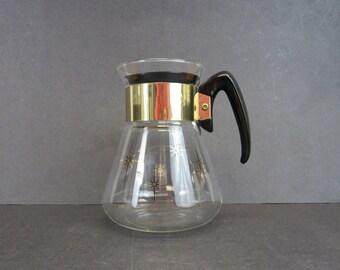 Vintage Atomic Star Corningware Glass Coffee Carafe (E3681)