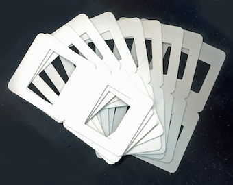 10 New, Blank, Cardboard Slide Mounts or Frames - Mixed Media, Scrapbooking, Decorations, Crafts