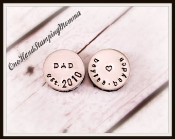 Personalized Dad Gift - Hand Stamped Magnets - Dad Gift - Hand Stamped