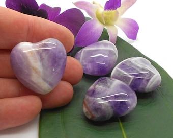 Polished Amethyst Heart for Metaphysical Work, Reiki, Energy Work, Affirmations, Love, Little Gift, Valentine, I Love You, Heart